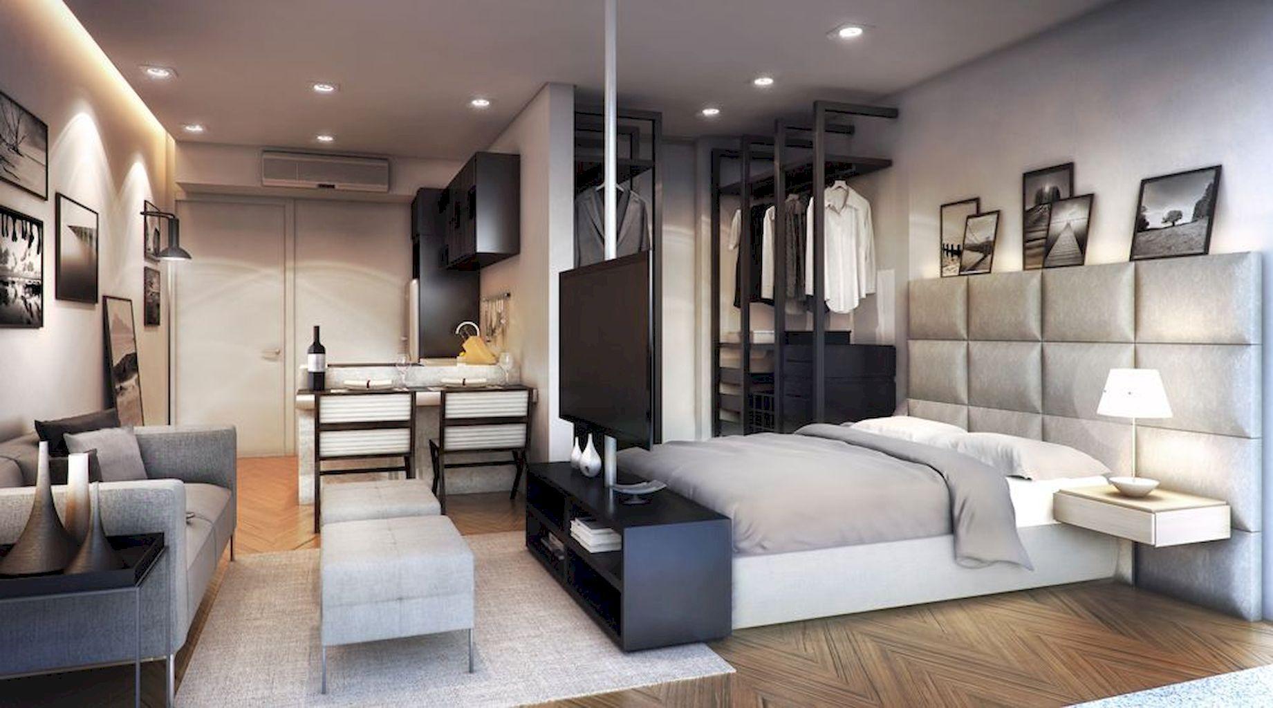 101 Studio Apartment Decorating Design Ideas For Spacious Space images