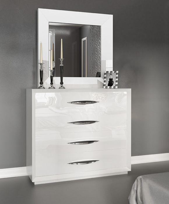 ES Karen Single Dresser white   White dresser with mirror ...