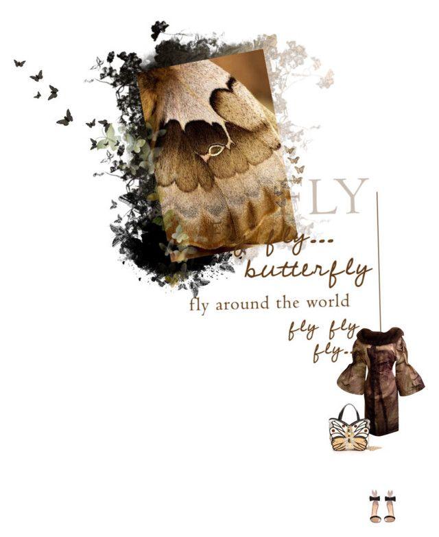 """Butterfly Wings Nº 8"" by sharmarie ❤ liked on Polyvore featuring moda, Disney, Carolina Herrera, Gianvito Rossi y Farfalla"