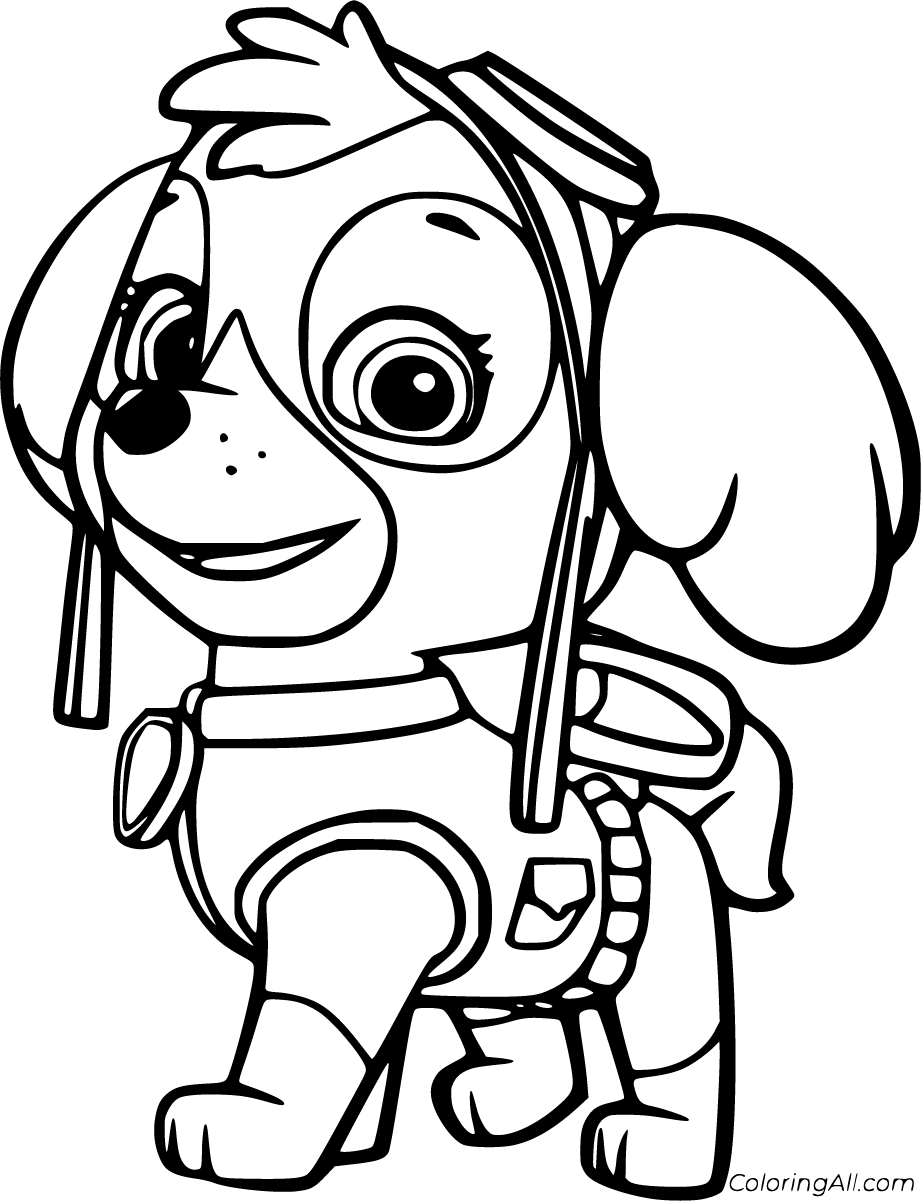 10 Free Printable Skye Paw Patrol Coloring Pages In Vector Format Easy To Print From Any In 2020 Paw Patrol Coloring Paw Patrol Coloring Pages Cartoon Coloring Pages