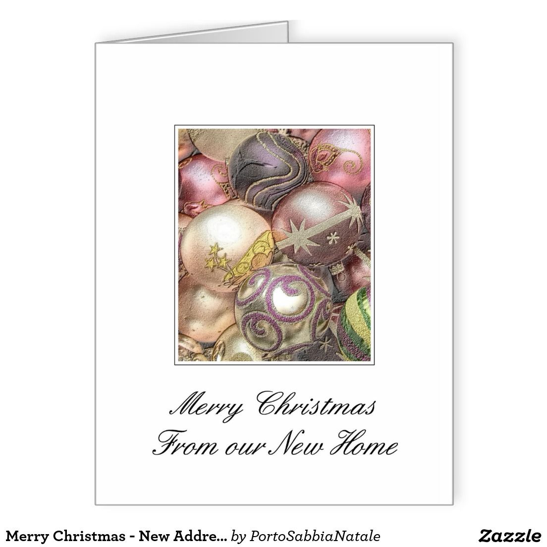 Merry Christmas - New Address Christmas Card. Search Zazzle for ...