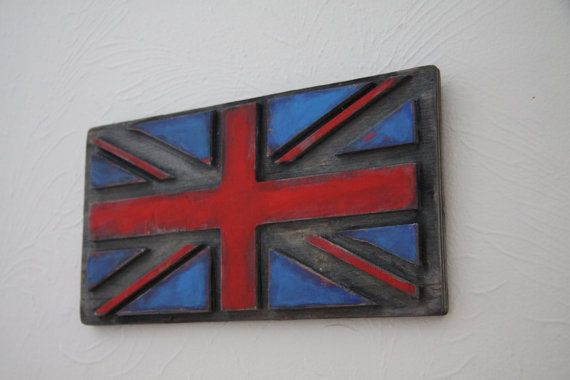 Union Jack Wall Decor by PiccadillySignsDecor on Etsy,