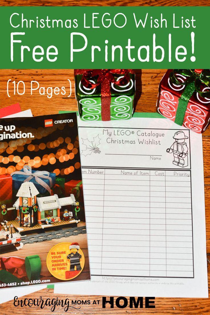Christmas Wish List Form Free Printable Lego® Catalog Christmas Wishlist  Encouraging Moms .