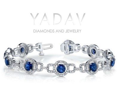 Blue Sapphire Halo Bracelet: http://www.diamondsonweb.com/shopping/sdetail.mhtml?cat=56&sku=10167