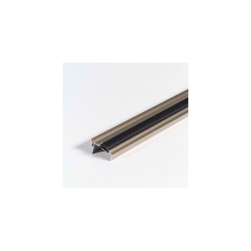 M D Building Products 25716 36 X 2 1 4 Heavy Duty Door Sweep With Vinyl Insert Satin Nickel Door Sealing Door Sweep Vinyl Door Sweep Doors