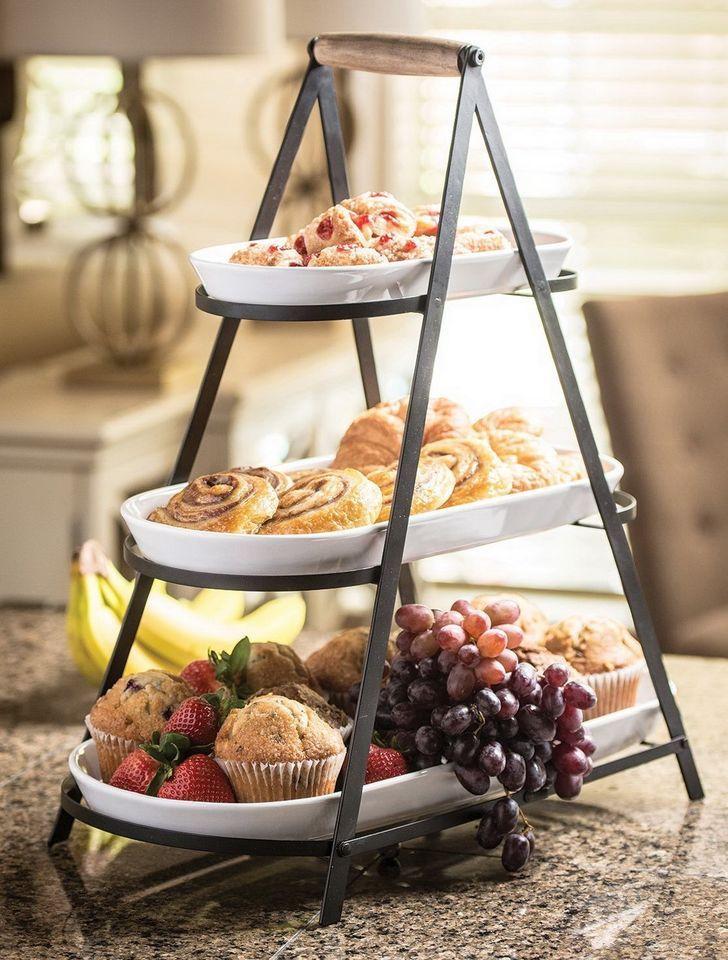Hosting Your First Thanksgiving Buffet Stand Serving Platter