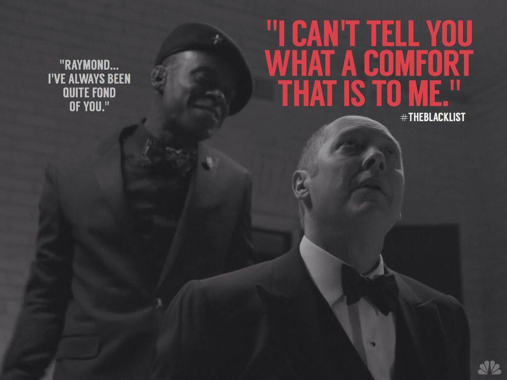 Because Reddington\'s sarcasm slays me... #Spader ...