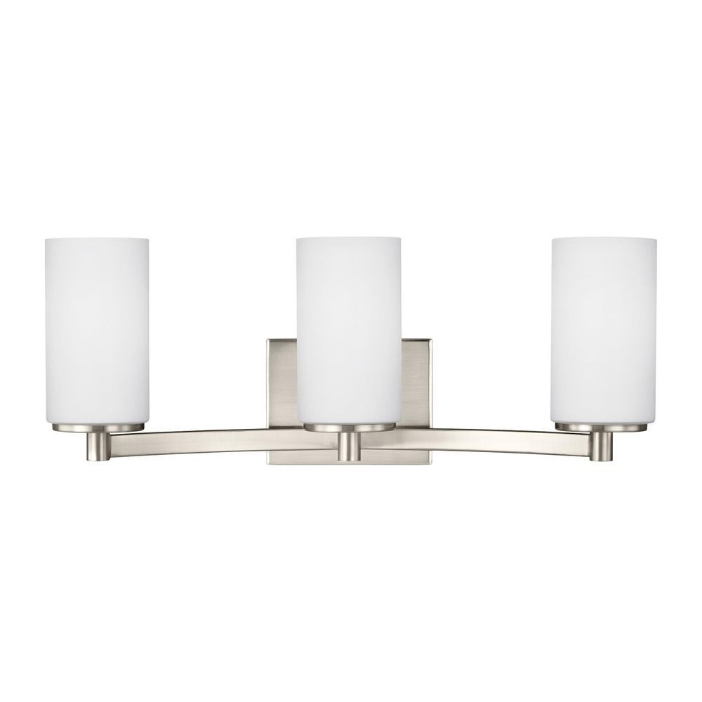 Sea Gull Lighting Sea Gull Lighting Hettinger Brushed Nickel LED - Brushed nickel led bathroom light