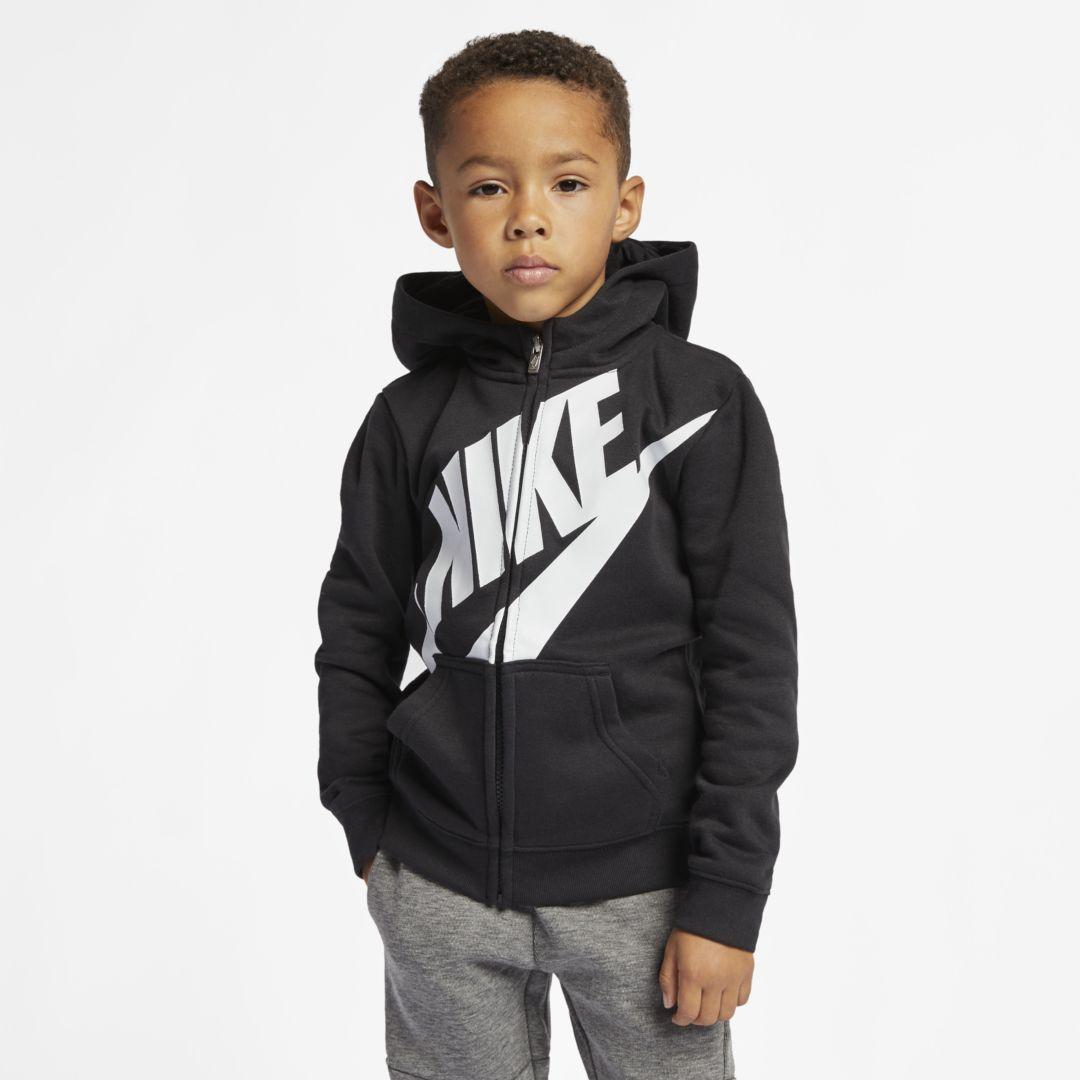 bfc94fc93382 Nike Toddler Full-Zip Hoodie Size 2T (Black)