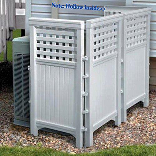 Made in usa white uv resistant 4 panel resin outdoor for Portable garden screen