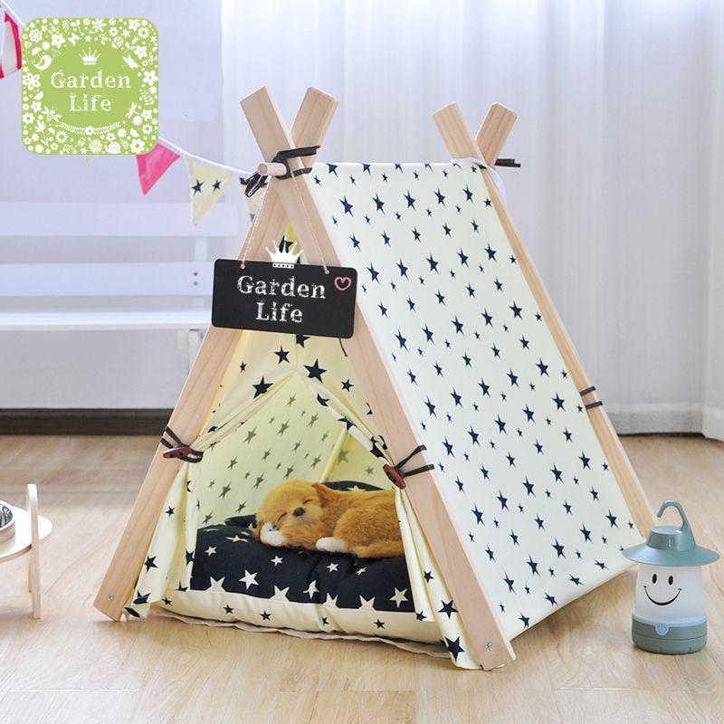 pas cher en bois vie pliable tente animal lit de. Black Bedroom Furniture Sets. Home Design Ideas