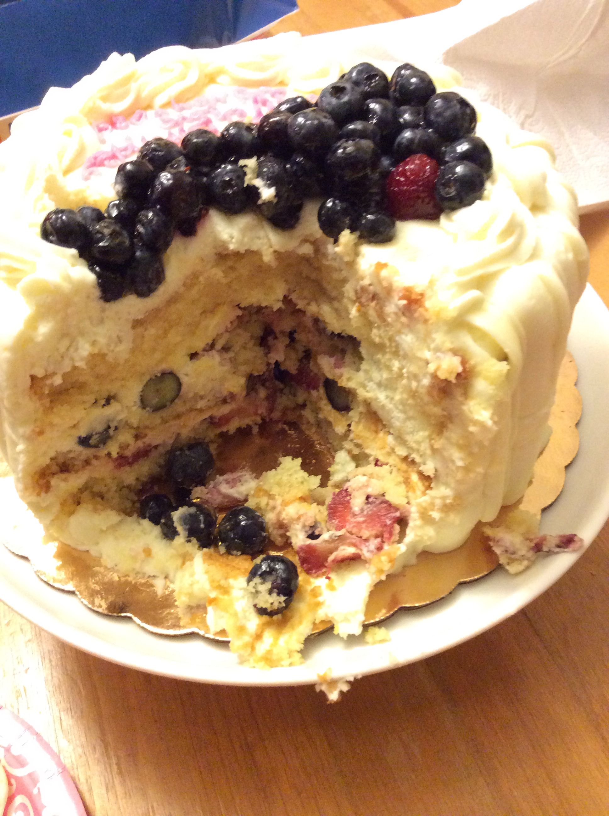 Berry Chantilly cake from the Whole food MarketHands Down Best