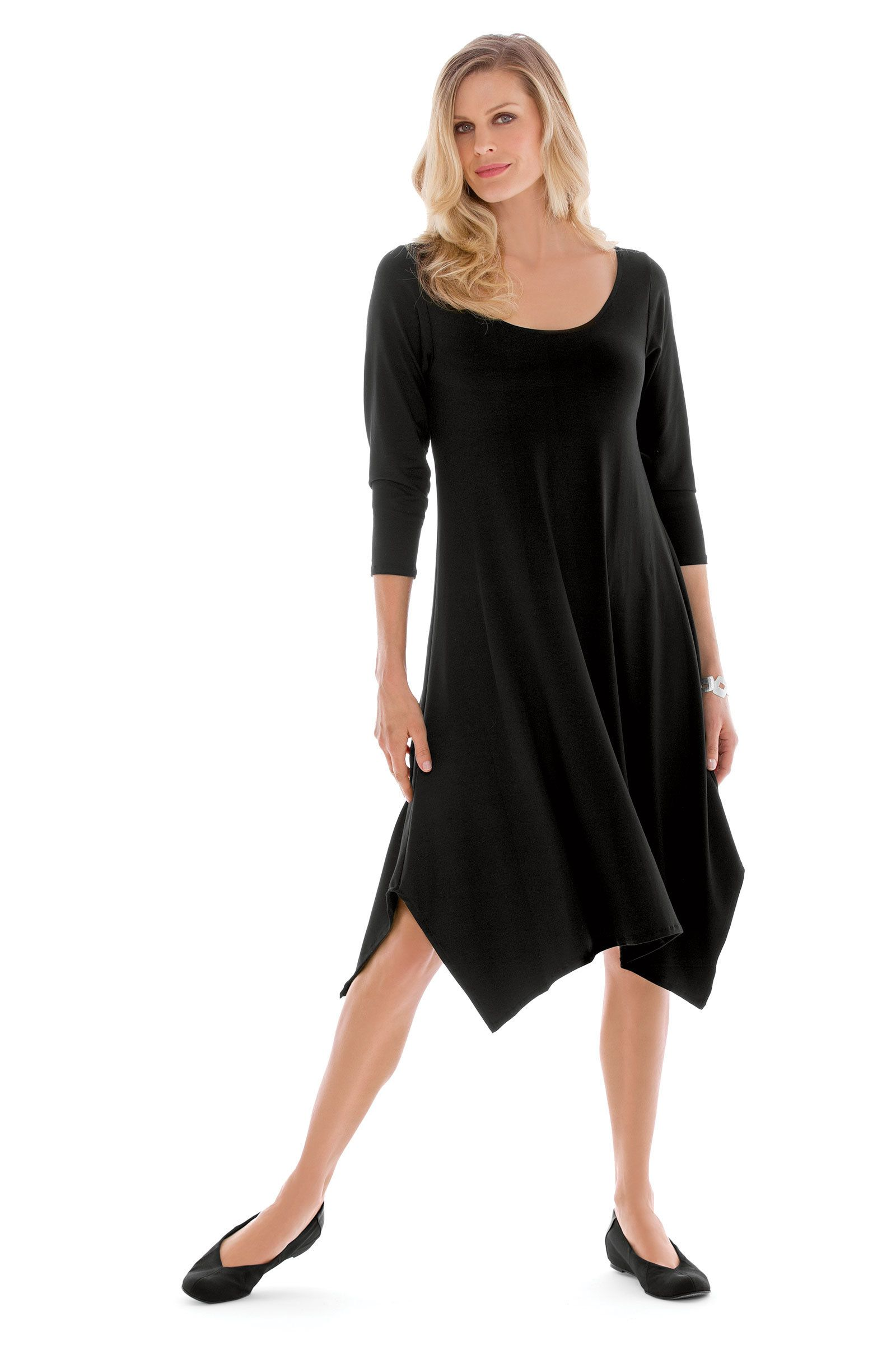 Travel Knit Simple Dress by F.H. Clothing Company (Knit Dress) | Artful Home
