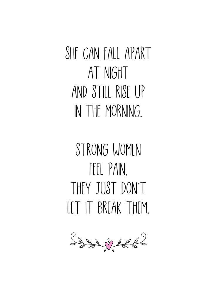 Strong Women Rise Up, Strong Women Don't Break, Printable Inspirational Wall Decor, INSTANT DOWNLOAD