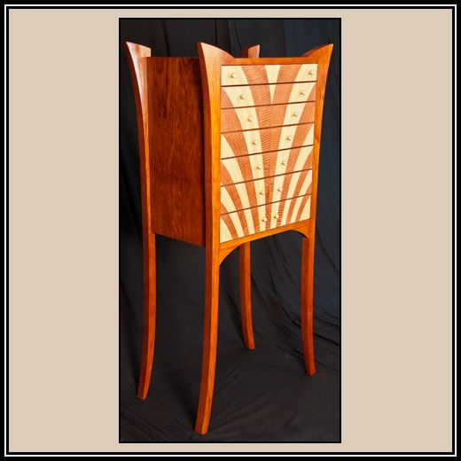 Art Deco Jewelry Armoire | Heller And Heller Custom Furniture