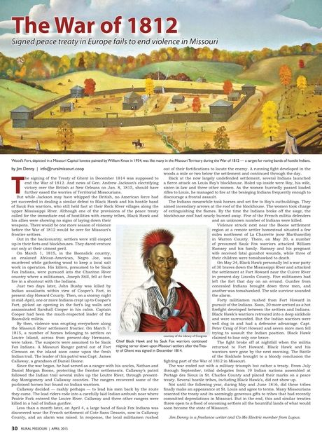Rural Missouri - April 2015 - Page 30 The War of 1812 signed