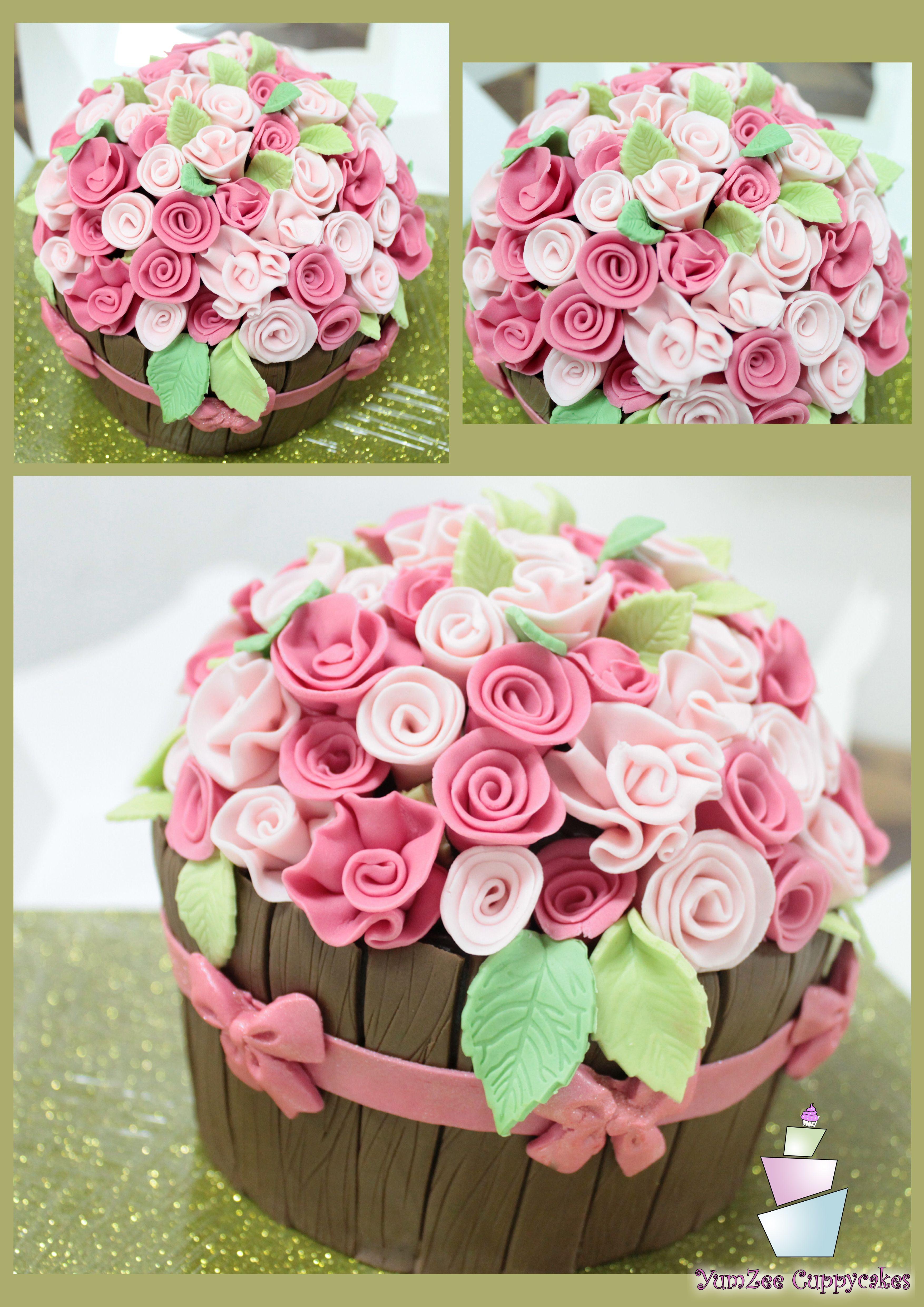 Flower pot Cake..! For more designs visit https//www