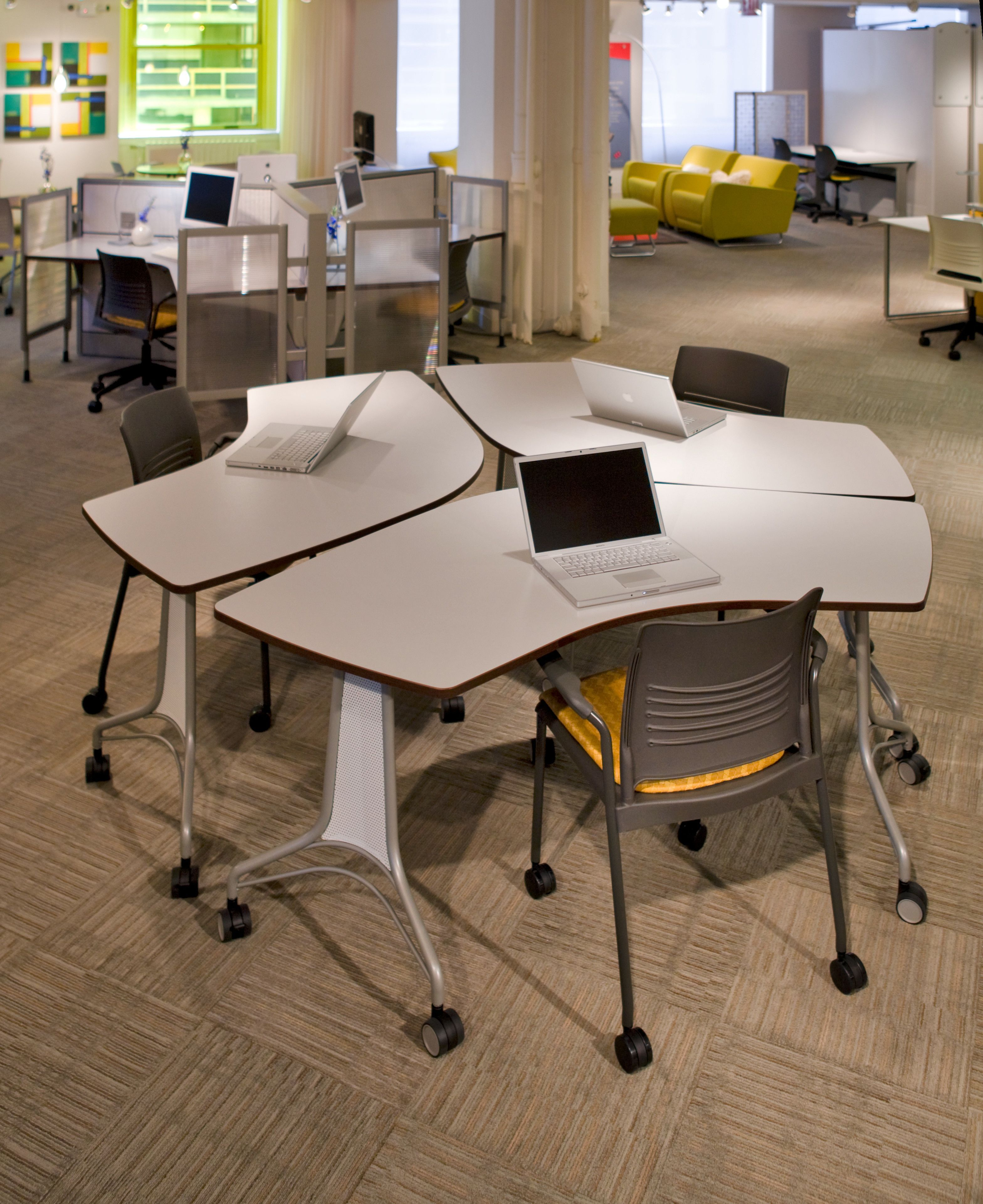 Enlite tables and strive chairs make reconfiguring
