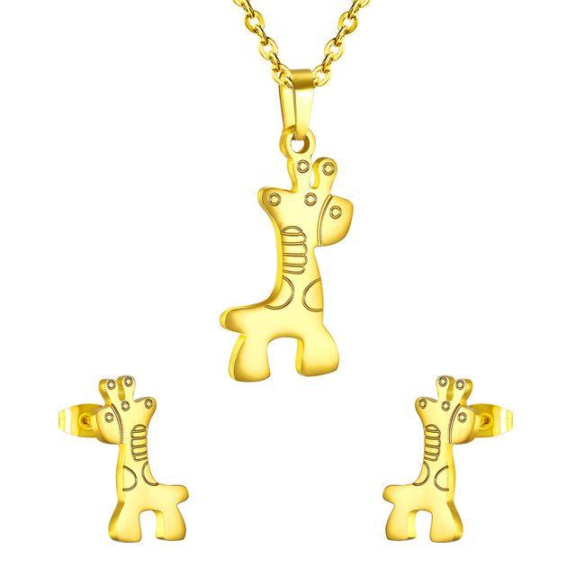 Giraffe Earrings - Stainless Steel 9IUhuU