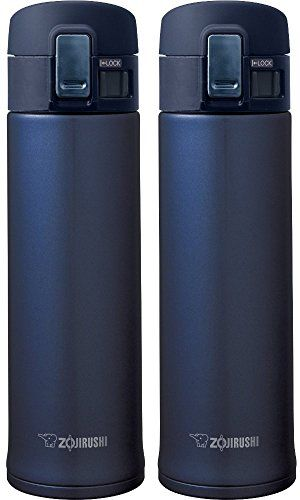 Zojirushi SMKHE48AG Stainless Steel Mug 16Ounce Smoky Blue  2 Pack >>> Learn more by visiting the image link.