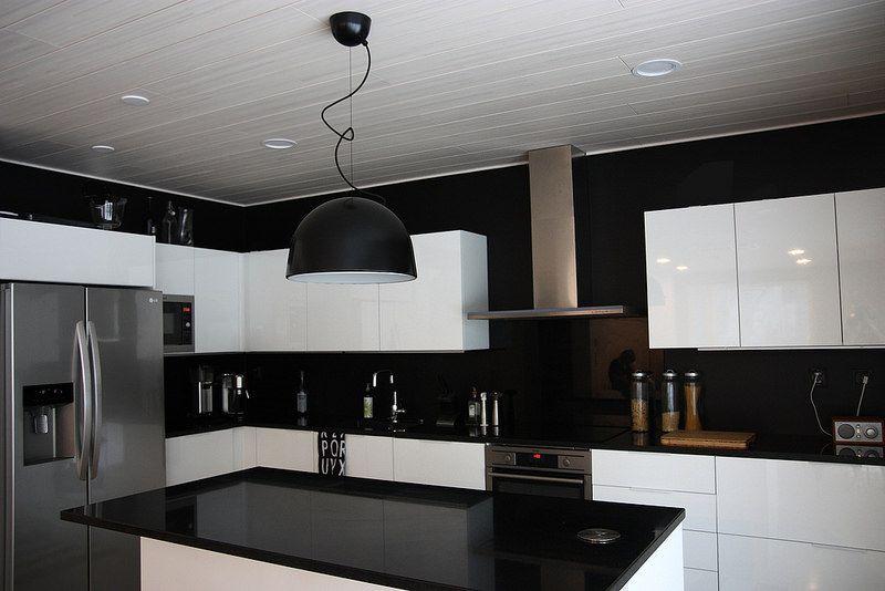 mustavalkoinen keittiö  Google haku  Ideoita tulevaan keittiöremonttiin  P
