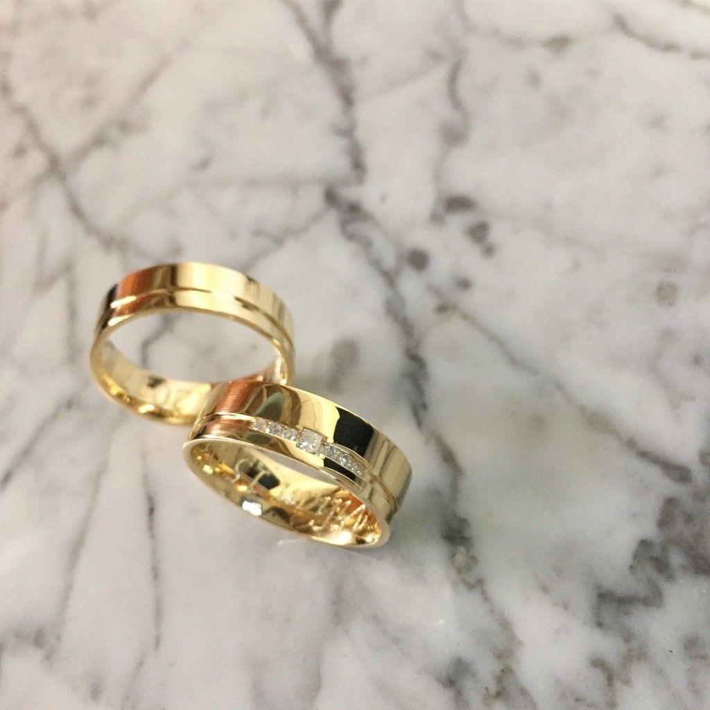 Alianças João Pessoa ♥ Casamento e Noivado em Ouro 18K d51147e713