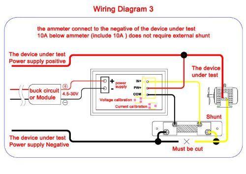 deok dc digital ammeter voltmeter 0 100v 5a car motor red blue led rh pinterest com Emerson Electric Motor Wiring Schematic Century Motor Wiring Diagram