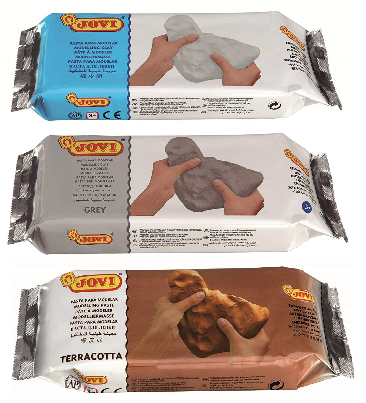 Jovi Premium European Air Dry Modeling Clay Pack of 3