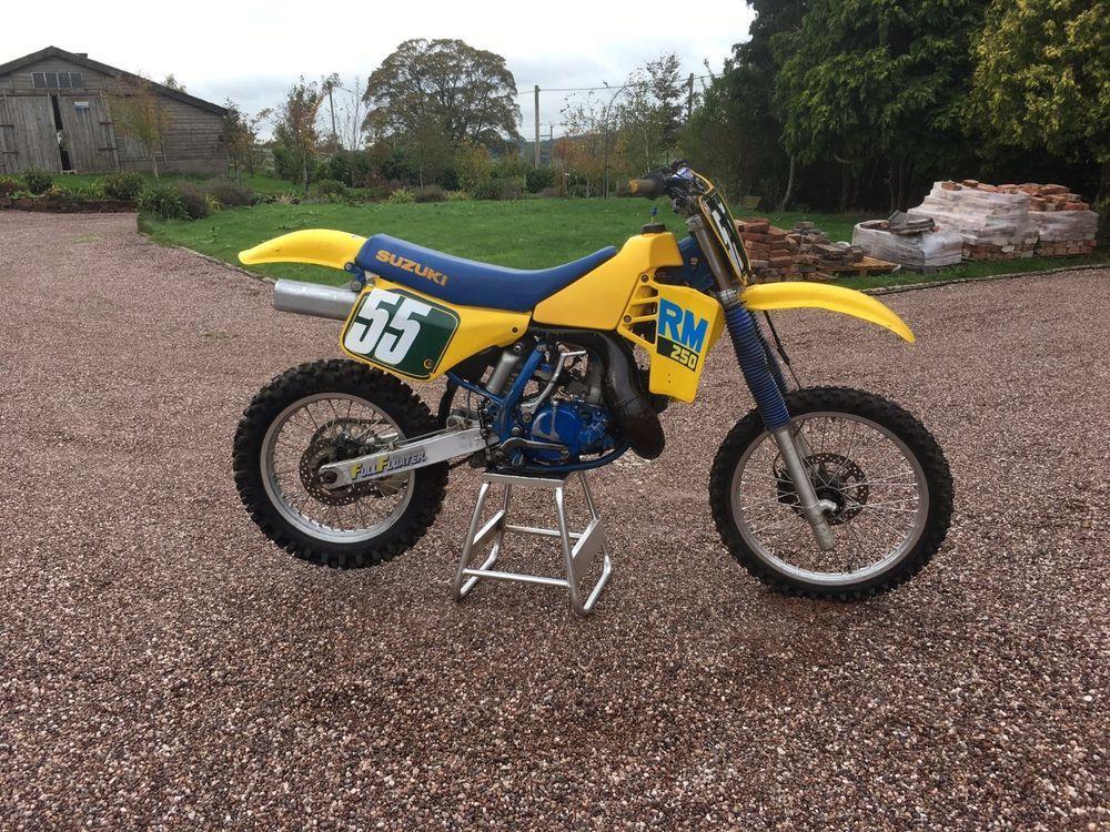 eBay: Two x Suzuki RM 250 1988 Evo Motocross Bikes