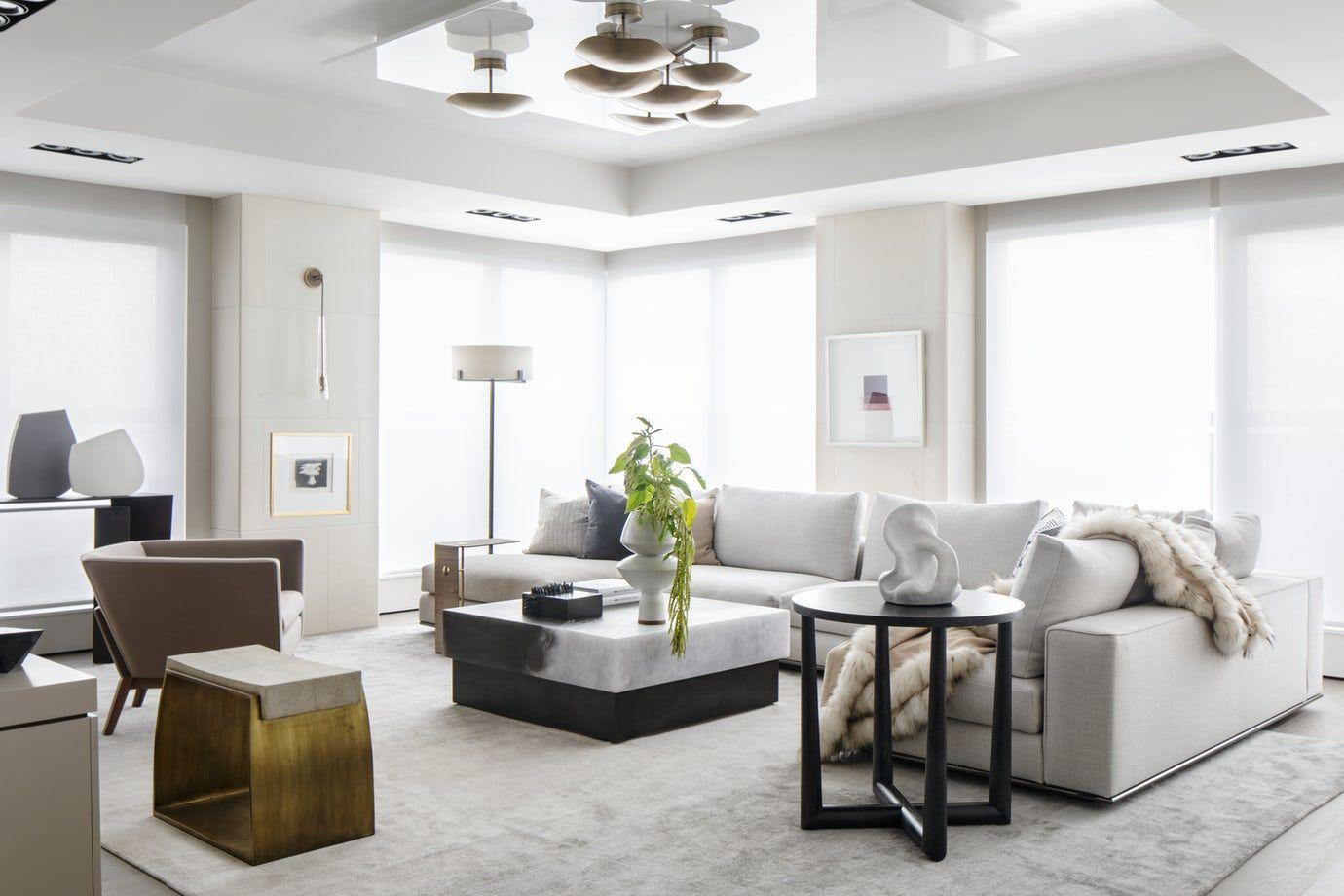 living room at our toronto penthouse condo renovation living rh pinterest com
