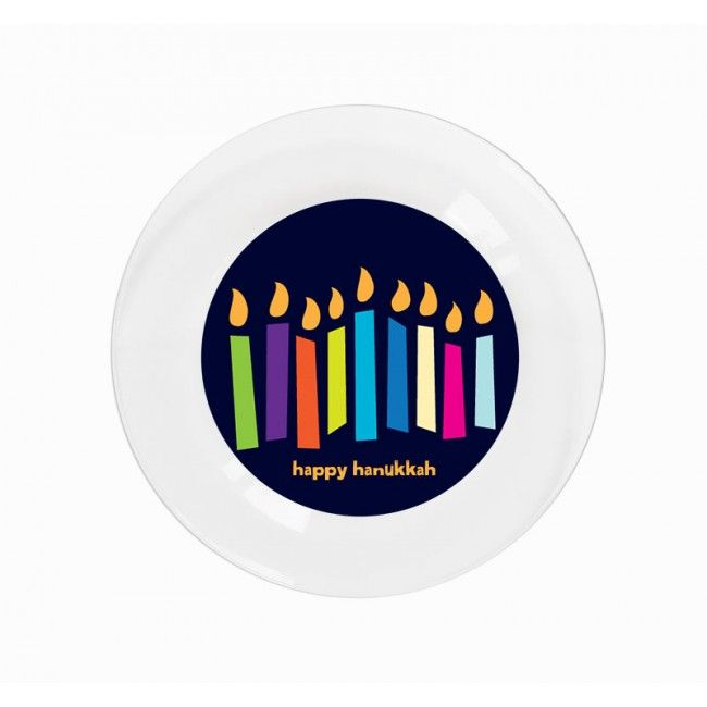 Light The Night Party Plates - Happy Hanukkah! Personalized dinnerware for you passover celebrations /  sc 1 st  Pinterest & Light The Night Party Plates - Happy Hanukkah! Personalized ...