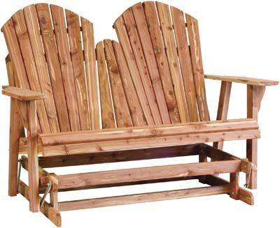 The New Style Adirondack Loveseat Glider Boasts Strong Construction And A  Timeless Design. Visit Us In Shipshewana, IN And See More Of Our Custom  Hardwood ...