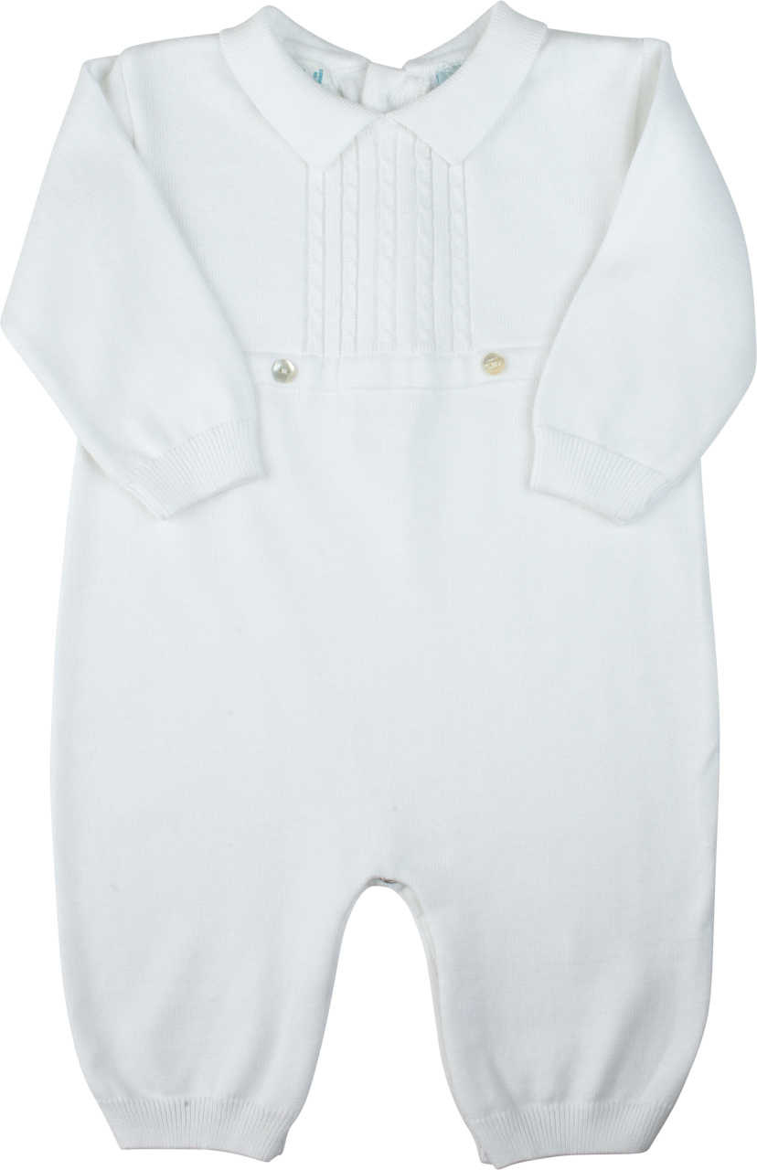c2a799a99c3 Baby Boys Christening Outfit Fine Knit Cotton and Hat. Cable Knit Longall  with Hat