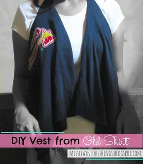 I'm a proud crafter: DIY Vest from Old Shirt