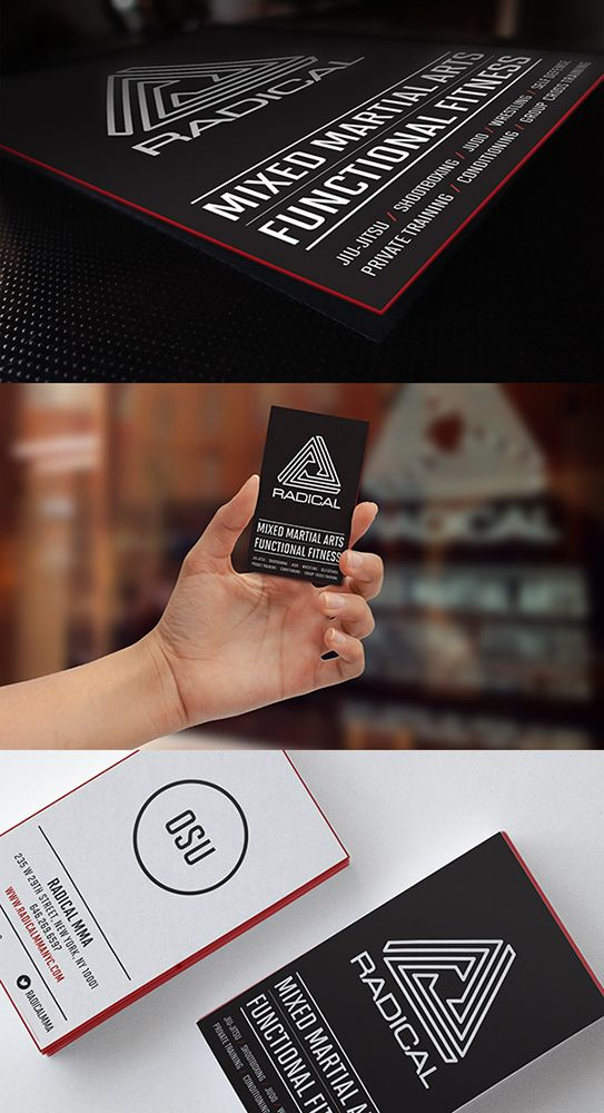Radical Mma Functional Fitness Business Card