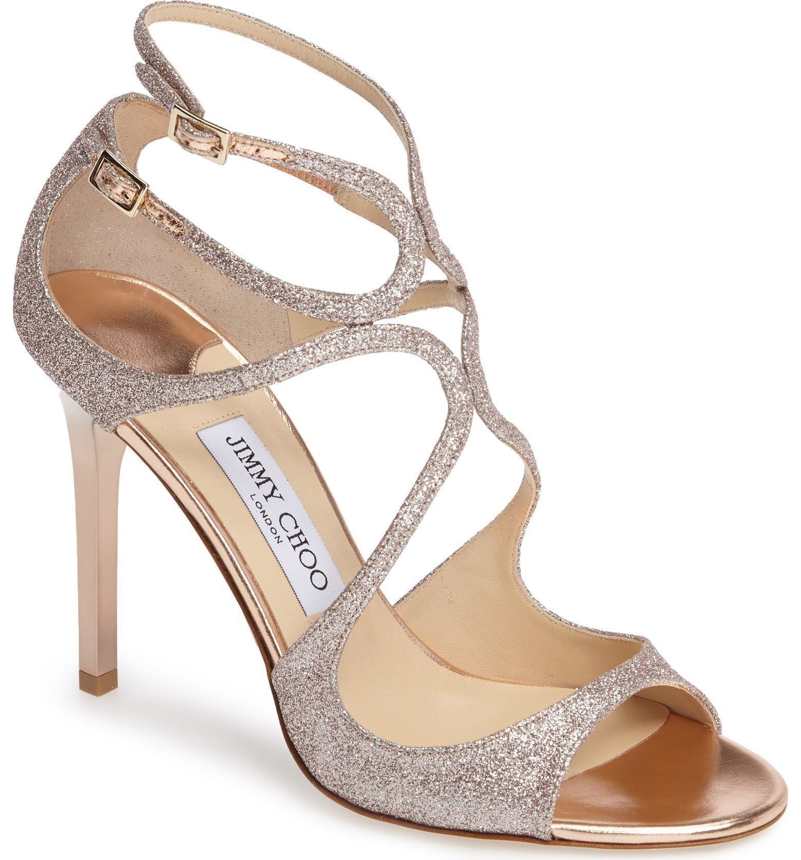 76938703010 Jimmy Choo - Lang Sandal in tea rose gold (Women)