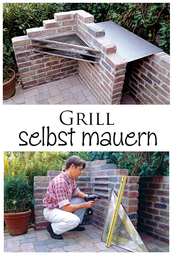grill mauern einen grill bauen gemauerter grill und grill bauen. Black Bedroom Furniture Sets. Home Design Ideas