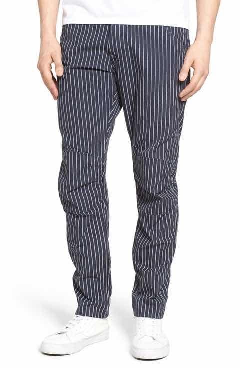 G Star Raw Elwood X25 Wabash Slim Fit Stripe Pants | Fringues