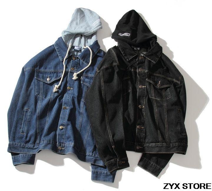 29aae27819e 2017 Vetements Kanye West Women Men Denim Jackets Coat Hiphop Brand Hooded  Men Jacket Denim Jeans