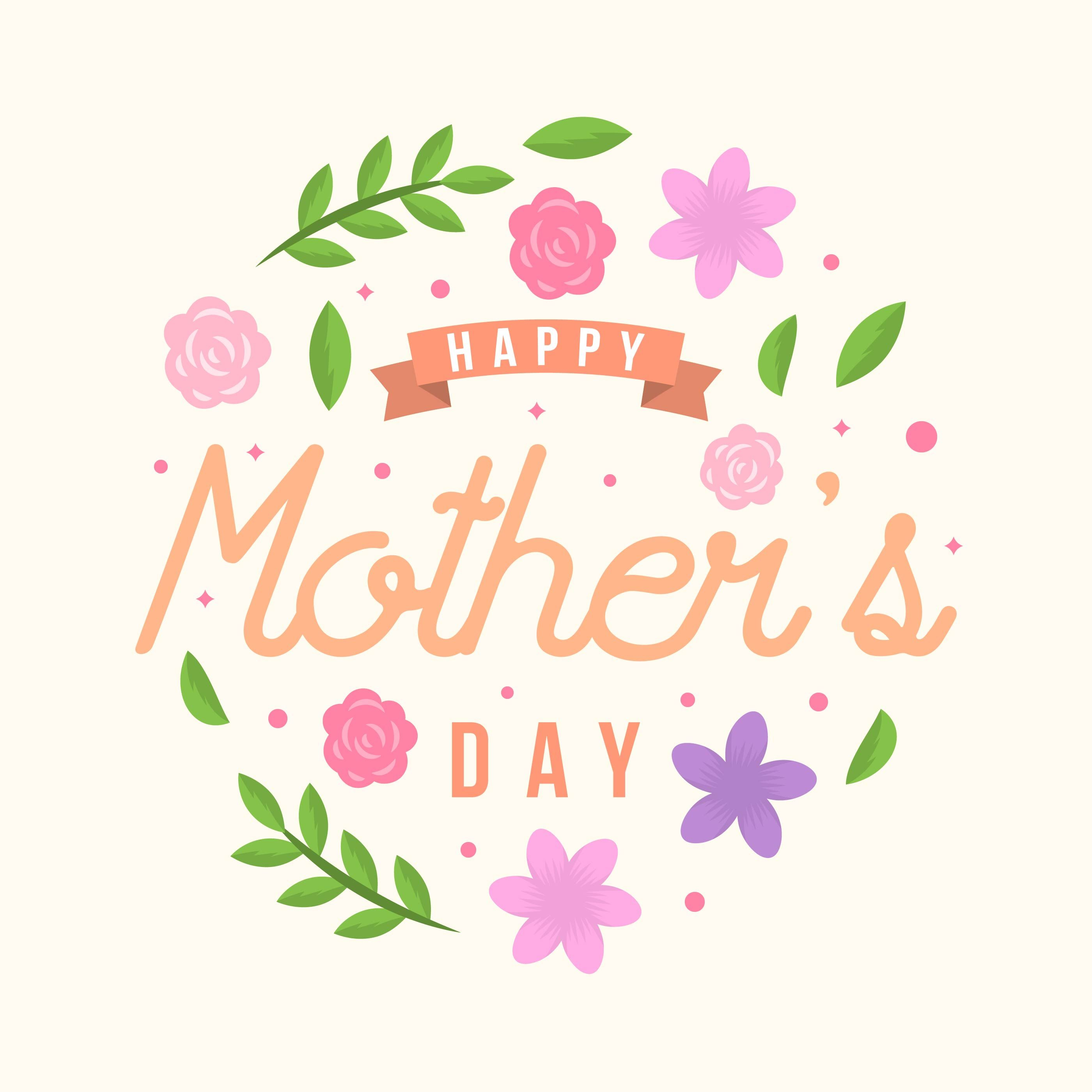 Flat Happy Mothers Day Card Vector Choose From Thousands Of Free Vectors Clip Art Designs I Happy Mother S Day Card Mothers Day Cards Mother S Day Gift Card