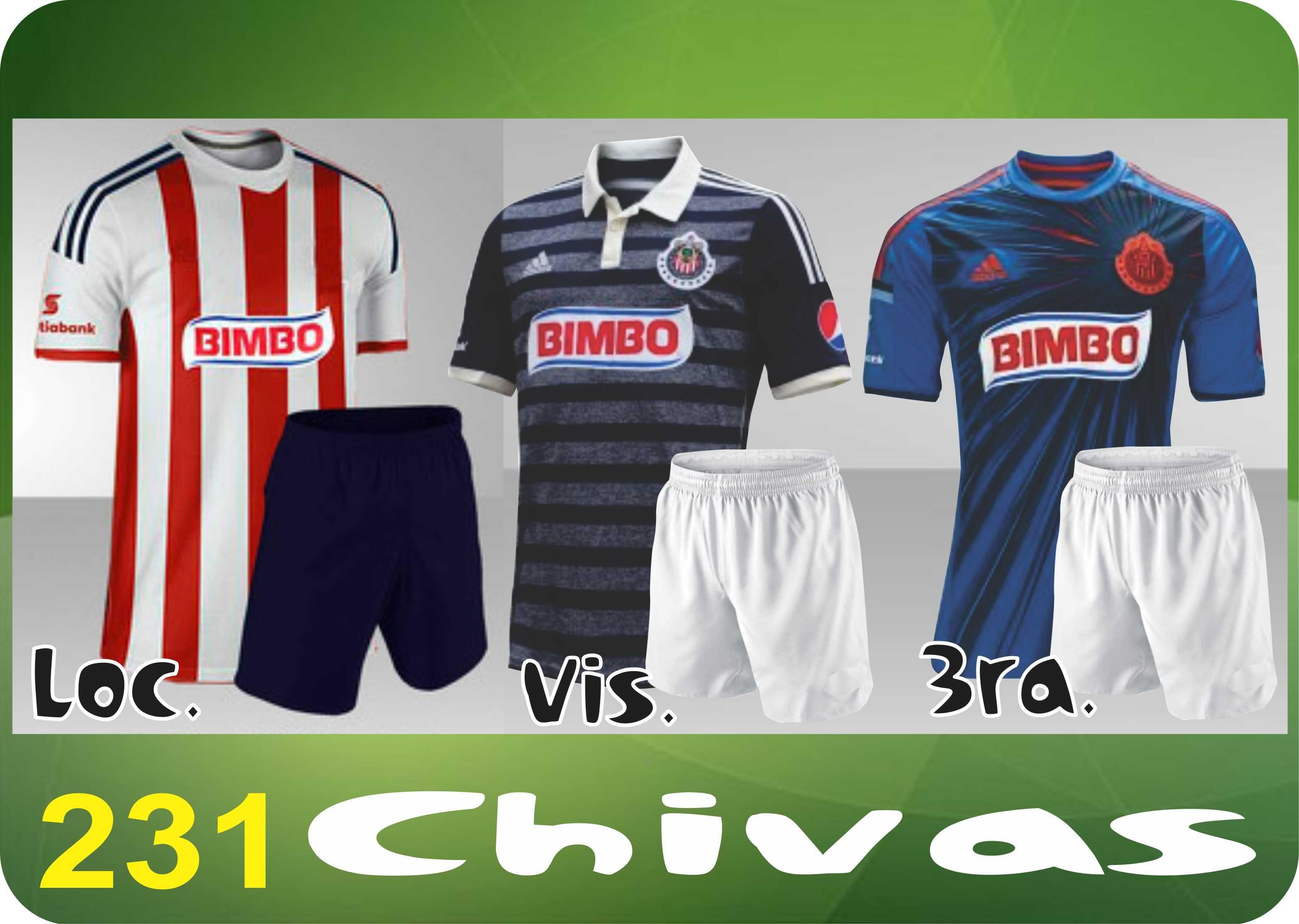 UNIFORME SOCCER DRI FIT. Mod. 231 CHIVAS. Encuentra este Pin y muchos más  en Uniformes Futbol ... 20770f96dca