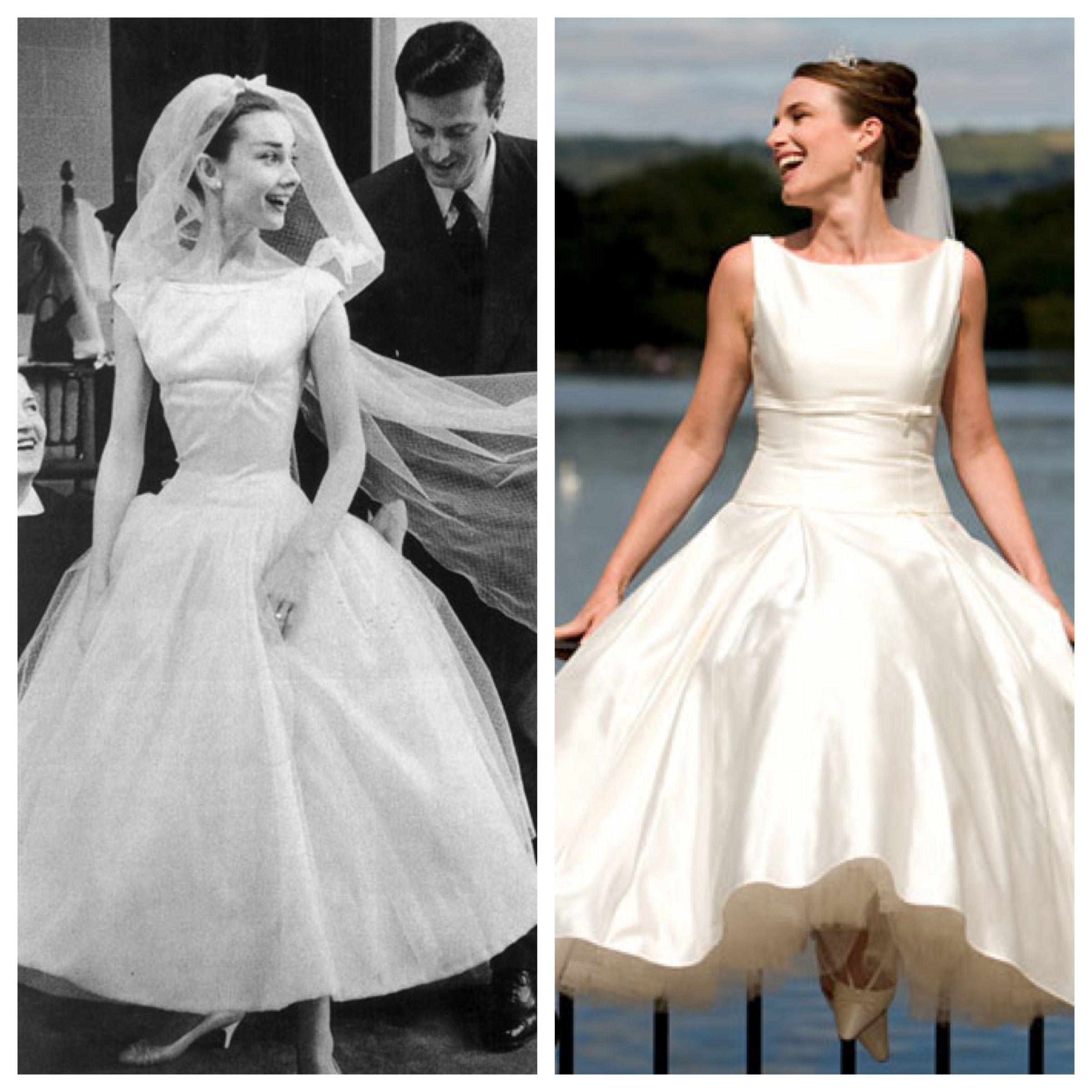 A noiva Hepburn: saia midi, cinturinha e decote canoa em alta ...