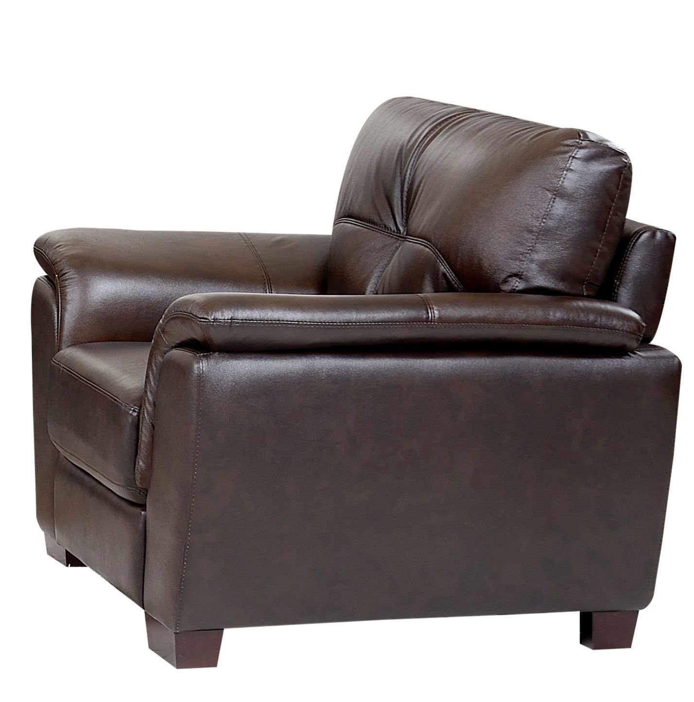 Best Belize Top Grain Brown Leather Armchair Brown Leather 400 x 300