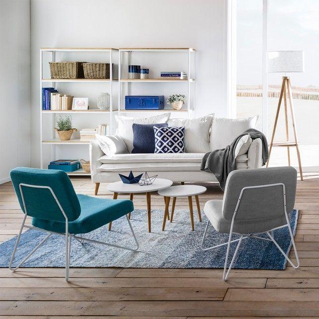 Grosses Regal, 5 Einlegeböden, Metall und Holz  - regale für wohnzimmer