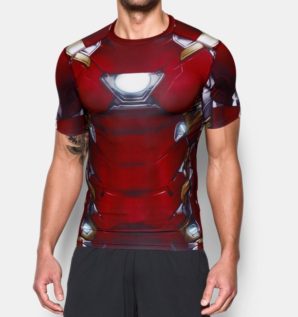 9c4c0935599 Shop Under Armour for Men s Under Armour® Alter Ego Iron Man Compression  Shirt in our Mens Tops department. Free shipping is available in US.