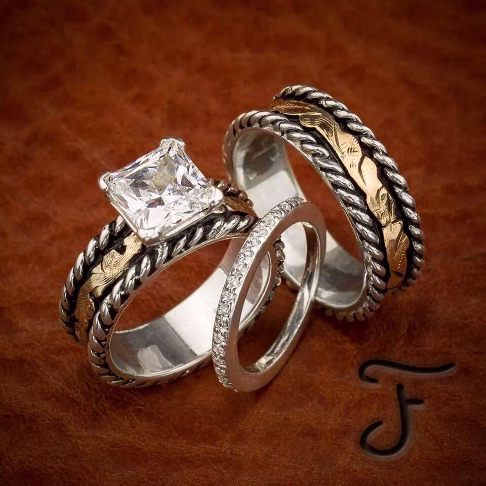 His and hers western wedding rings western wedding