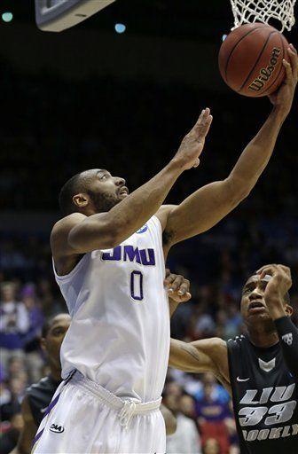 JMU NCAA Tournament 2013--A J  Davis   James Madison