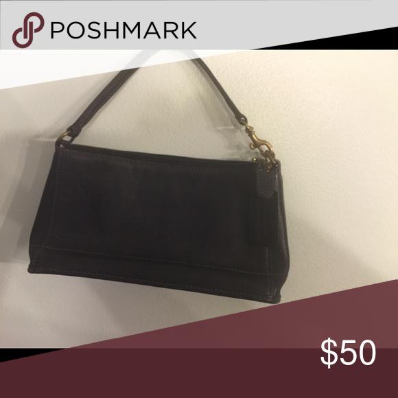 Purse Mini black coach purse . Excellent condition no rips it tears . Coach Bags Mini Bags