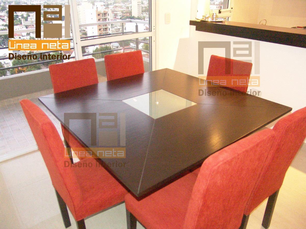 Mesa de comedor cuadrada 1 20m x 1 20m directo f brica for Mesas cuadradas para comedor