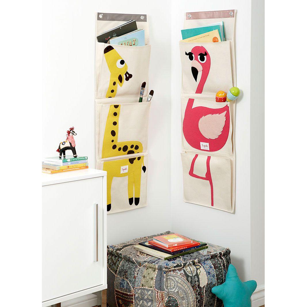 3 Sprouts Wandaufbewahrung Flamingo Und Giraffe Kinderzimmer Speicher Kinder Zimmer Aufbewahrung Und Organisation